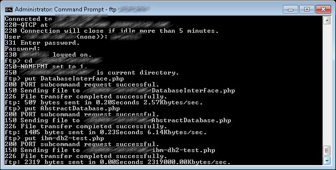 Copy Files to IBM Server