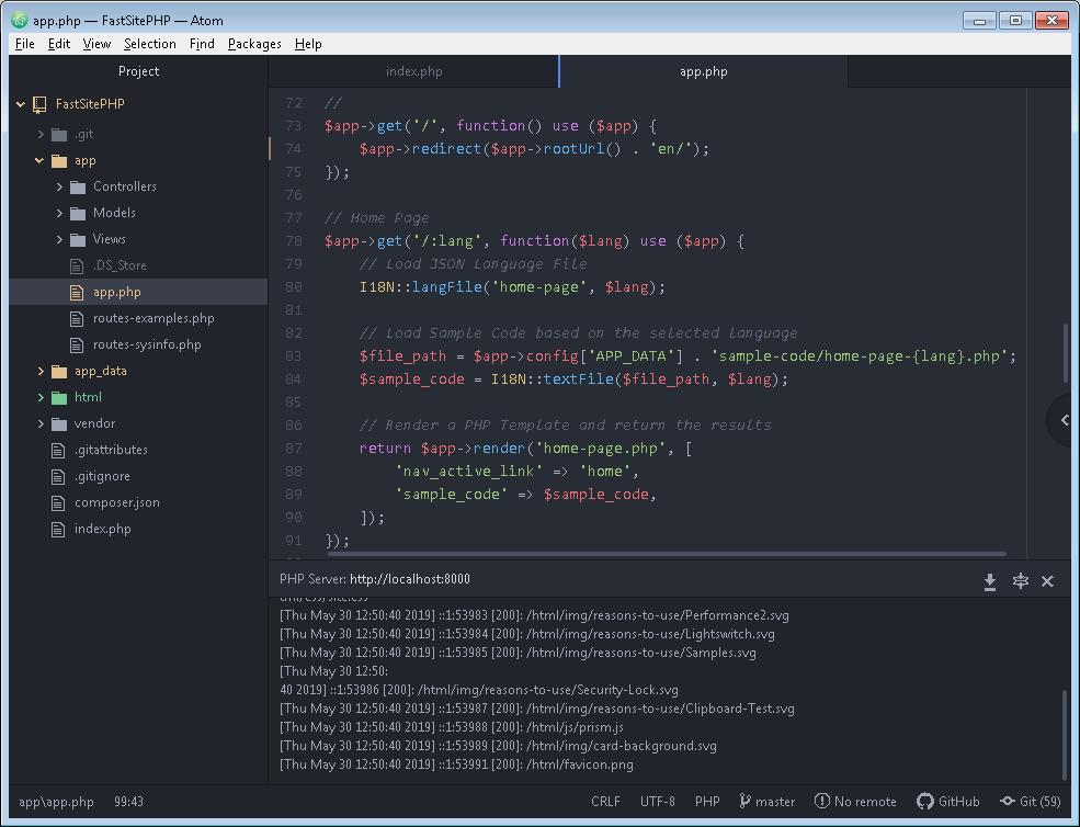 GitHub Atom Editor