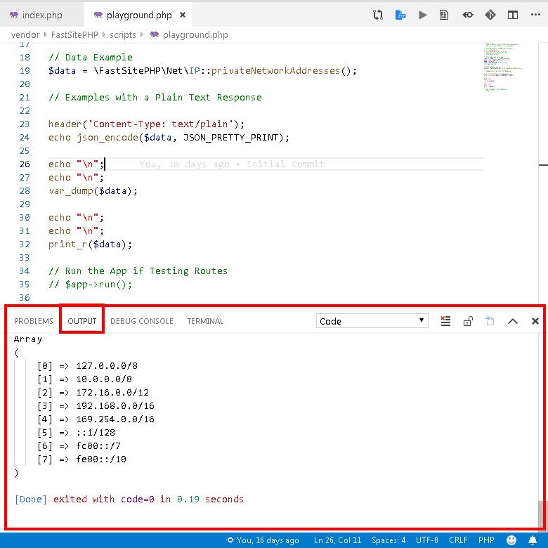 Code Runner Output