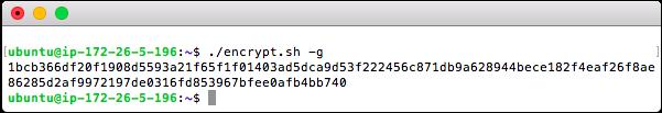 Generate a Key using [encrypt.sh]