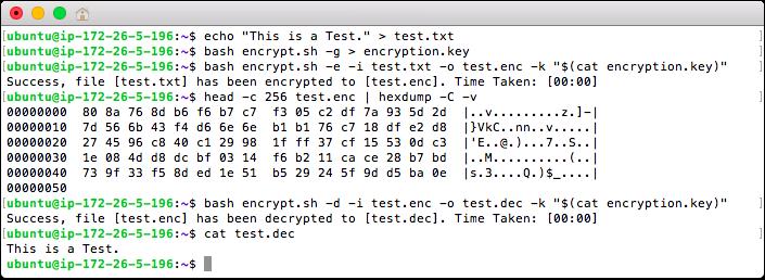 Encrypt and Decrypt a File
