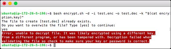 Decryption Error