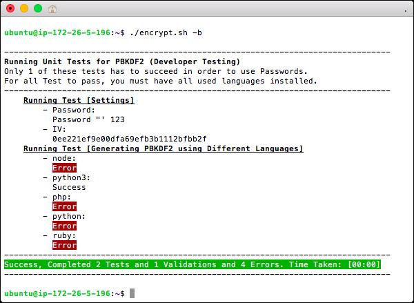 Bash PBKDF2 Testing
