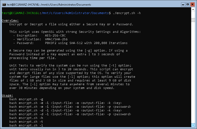 Encrypt Bash Script Help